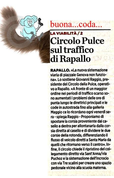 Circolo Pulce sul traffico di Rapallo